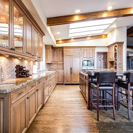 Kitchen with Residential LED Lighting